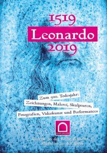 """Plakat zum """"Leonardo da Vinci - Jahr 2019 in der Stadt Mülheim an der Ruhr"""" , gestaltet von Klaus Wiesel, Retuchen Domi Schymura"""